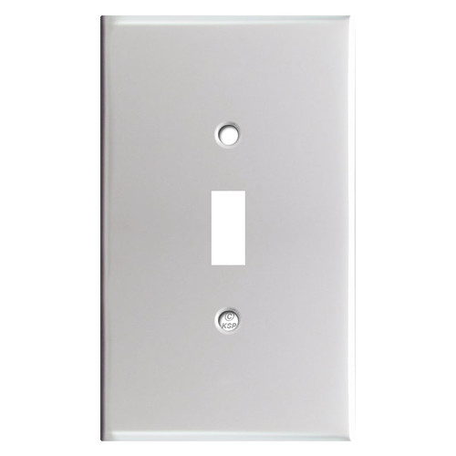 Oversized Toggle Wall Plate Cover - Brushed Aluminum