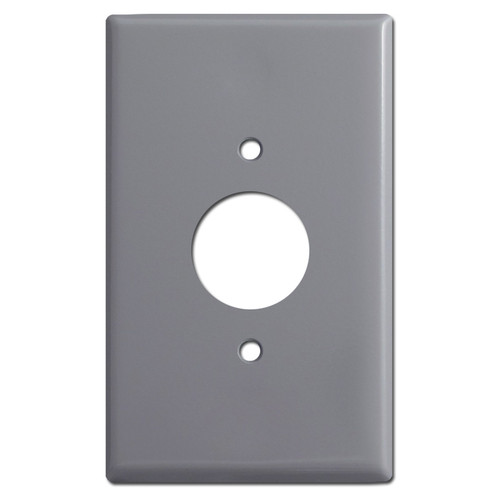 Oversized 1.4'' Round Simplex Receptacle Cover - Gray