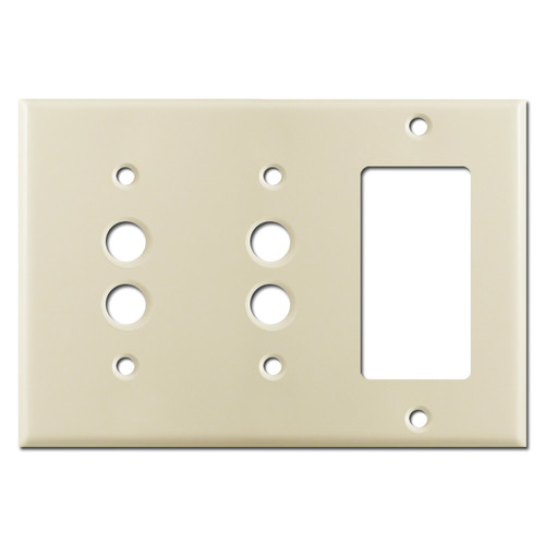 2 Pushbutton 1 Decora Receptacle Cover Plate - Ivory