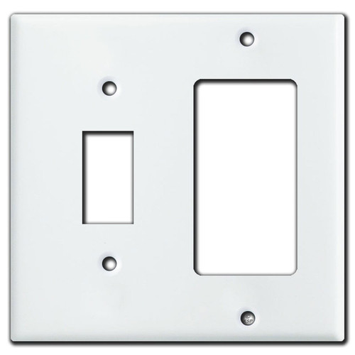Decora + Somfy Extending Shade Switch Wall Plate - White