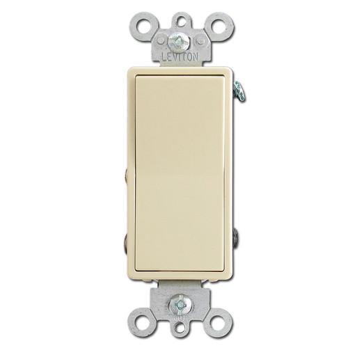 Ivory 15 Amp Decora Light Switches