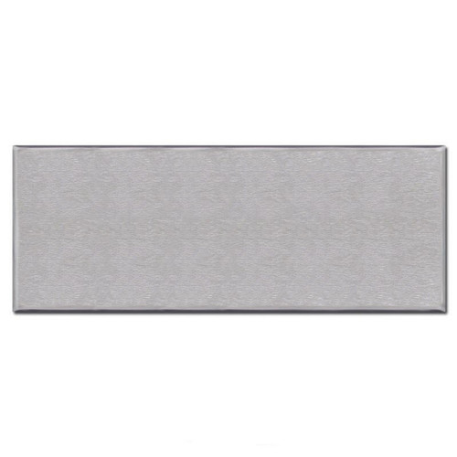 6 Gang All Blank Wall Plates with No Openings - Stainless Steel
