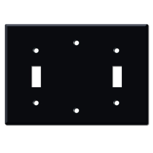 Toggle Blank Toggle Electrical Trim Plate - Black