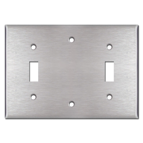 Toggle Blank Toggle Face Plate - Satin Stainless Steel