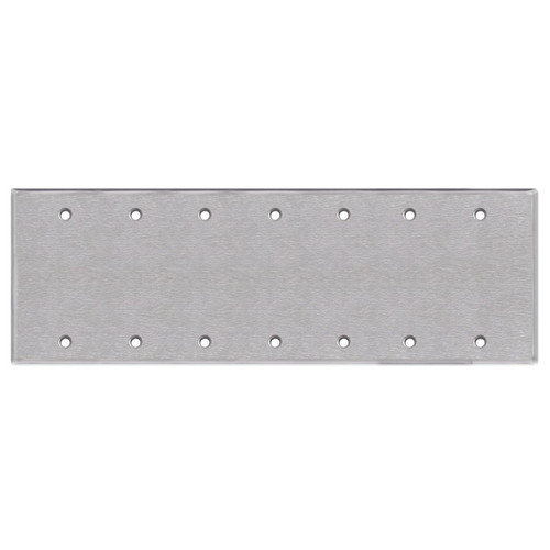 7-Gang Blank Electrical Wall Plate Cover - Satin Stainless Steel