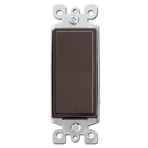Brown 3 Way Rocker Switches 15A