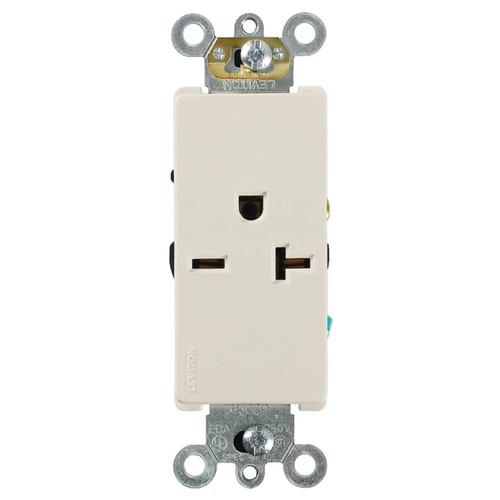 Decora Single Outlet 20A Com. Spec. Grade Leviton - Light Almond