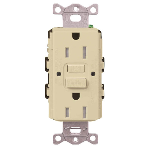 Kitchen & Bathroom Electrical Outlet Lutron 15A TR ST - Ivory