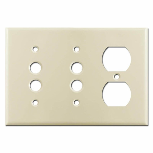 Duplex 2-Pushbutton Light Switch Covers - Ivory
