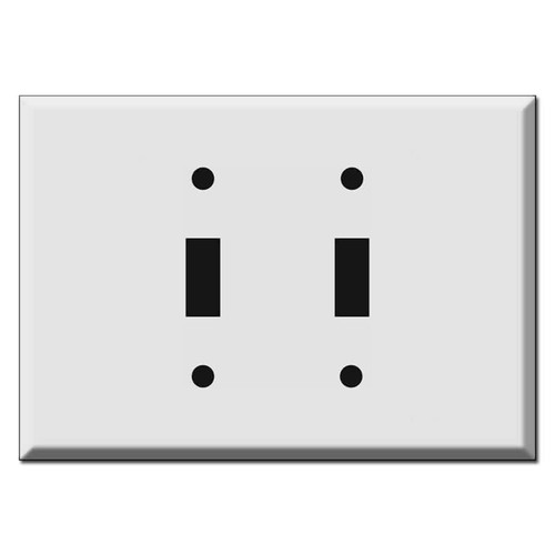 """Extra Wide 2-Toggle Switch Plate Covers 6.38"""" Across"""