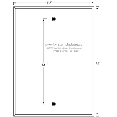 Custom Wall Switch Plate SP-CSTM-10653