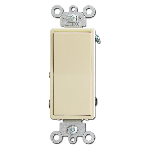 Ivory 15 Amp 3-Way Decora Light Switches