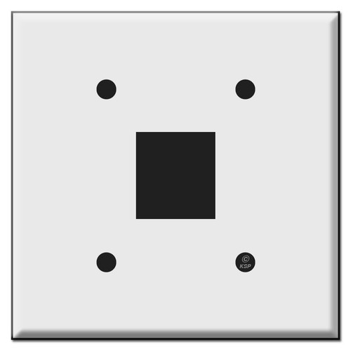 2-Gang Centered Snap-in Skylight Rocker Switch Plates