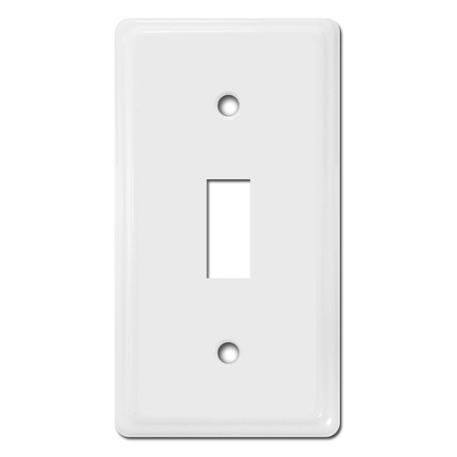 Shorter Narrow Size Toggle Switch Covers - White
