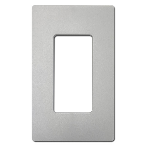 1 Decor Screwless Wall Plate Lutron - Satin Palladium Gray Plastic
