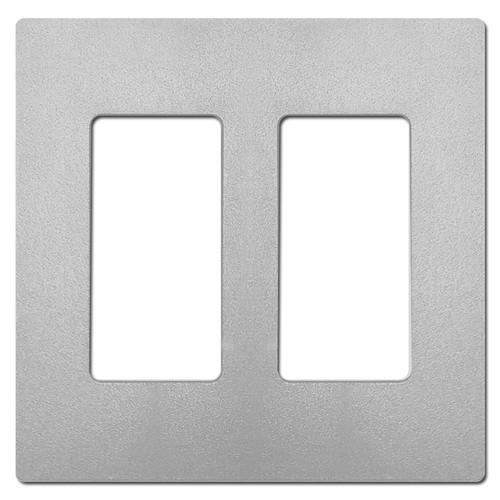 2 Decora Rocker Screwless Plate Lutron - Gray Palladium Satin Plastic