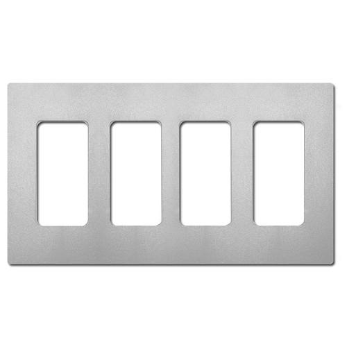 Satin Palladium 4 Decor Screwless Cover Plate - Lutron Gray Plastic