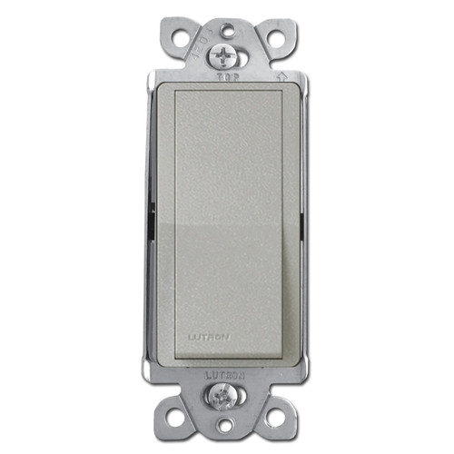 Satin Decorator Light Switch - Lutron Palladium Gray