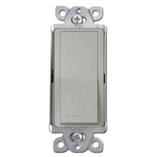 Satin Gray 3-Way Decor Rocker Switch - Lutron Palladium