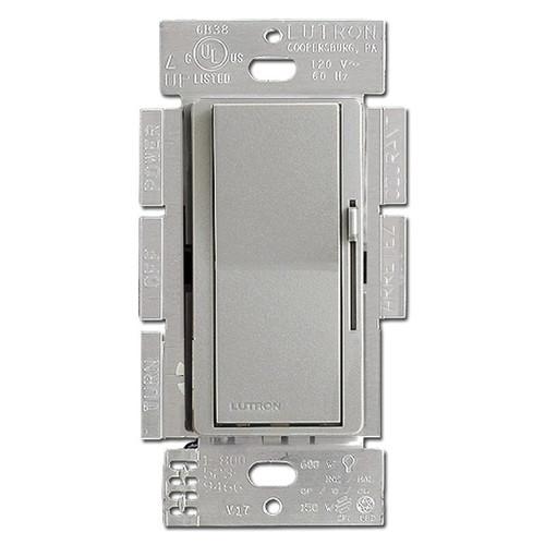 Satin Palladium Rocker Dimmer Switch - CFL LED Incandescent Lutron