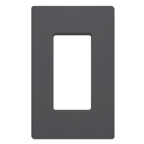 Graphite Screwless Wall Switchplate Cover - Plastic 1 Gang Legrand