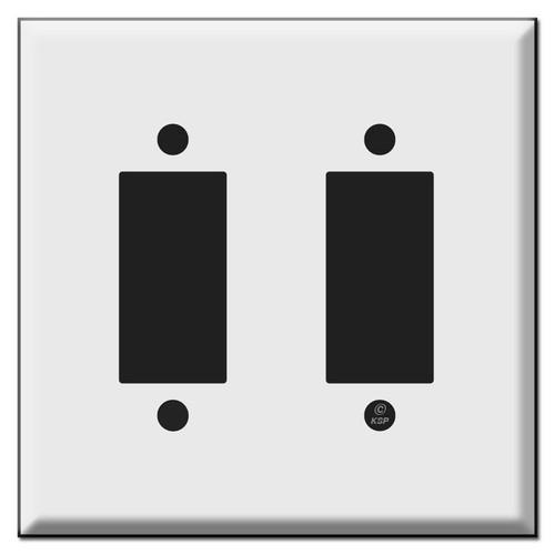 Leviton Centura 2-Button Light Switch Wall Plates