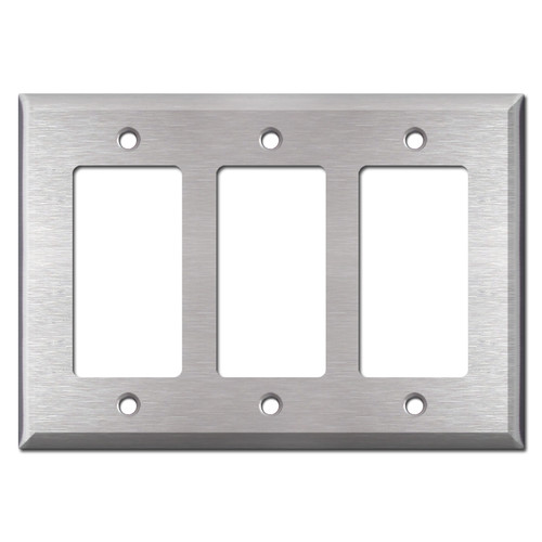 Deep 3 GFCI Decora Rocker Wall Switch Cover - Stainless Steel