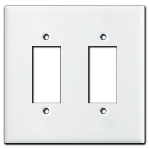 Leviton Centura 2-Gang Push Button Light Switch Plate - White