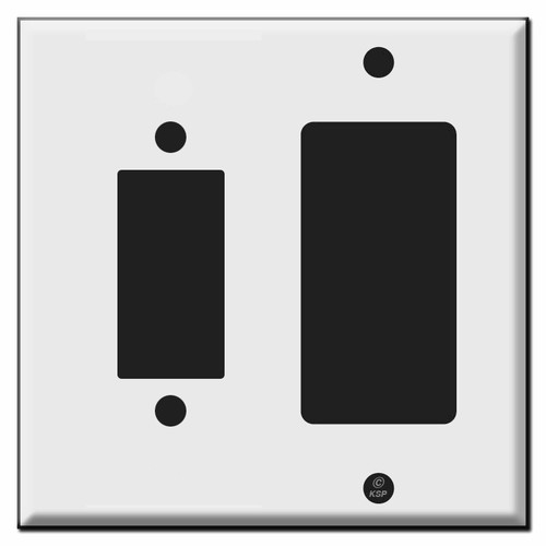 Leviton Centura 2-Button + Decora Light Switch Wall Plates
