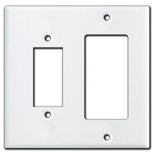 Leviton Decora + Centura Pushbutton Switch Plate - White