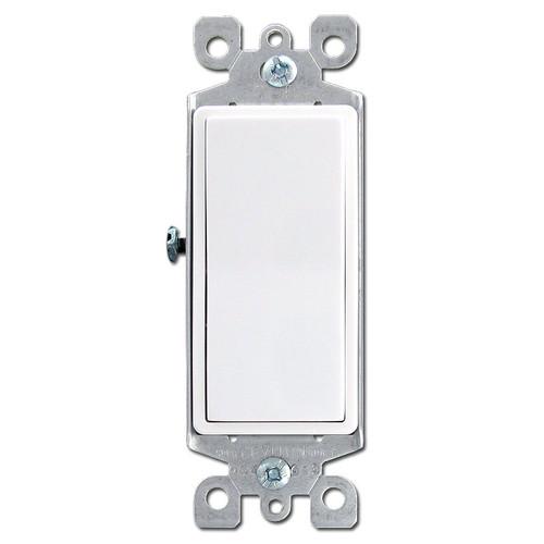 White Leviton 3 Way Illuminated Decora Rocker Switch