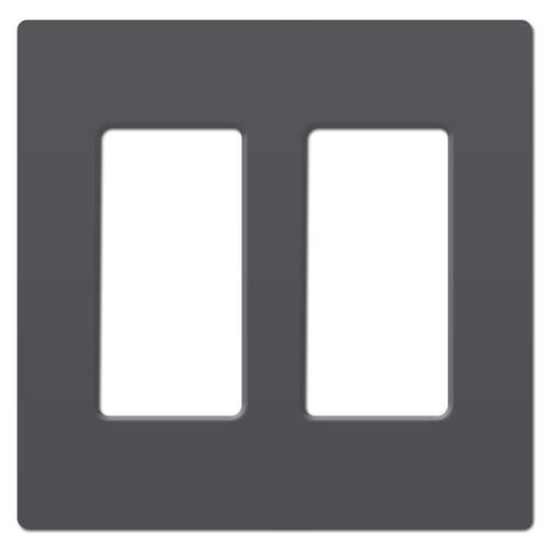 Graphite Screwless Light Switch Wall Plate - 2 Gang Plastic Legrand