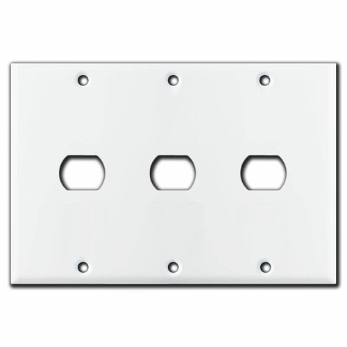 3-Gang 1 Opening Despard Switch Covers for 3 Switches - White