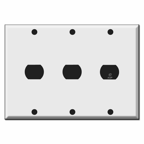 3-Gang Triple Despard Light Switch Cover Plates