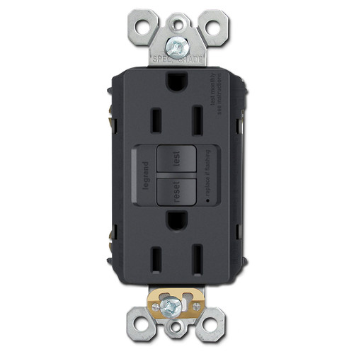 Graphite Ground Fault Receptacle 15A Tamper Resistant