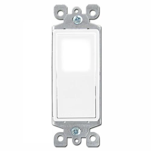 Illuminated LED Decora Rocker Light Switch Leviton - White