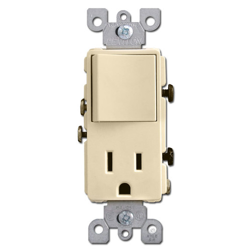Ivory Combination Decora Rocker Switch and Outlet Plug