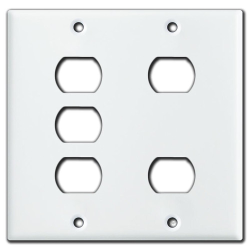 5-Despard Stacked Switch or Outlet Cover Wallplate - White