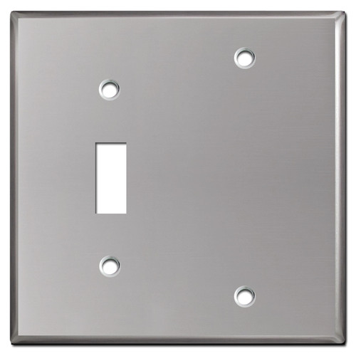 Blank Toggle Wall Plate Covers - Polished Stainless Steel