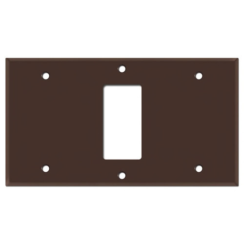 """8"""" Wide 1 Rocker Switch Cover Plate - Brown"""