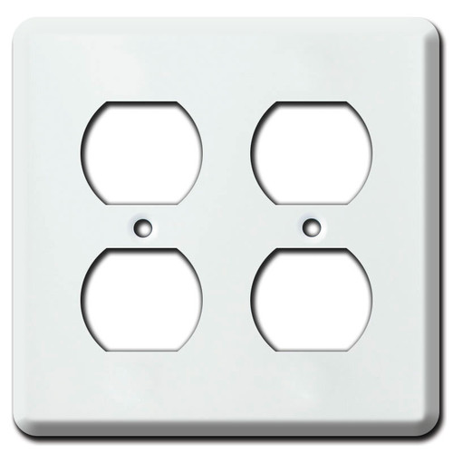2-Gang Duplex FS Box Cover - White
