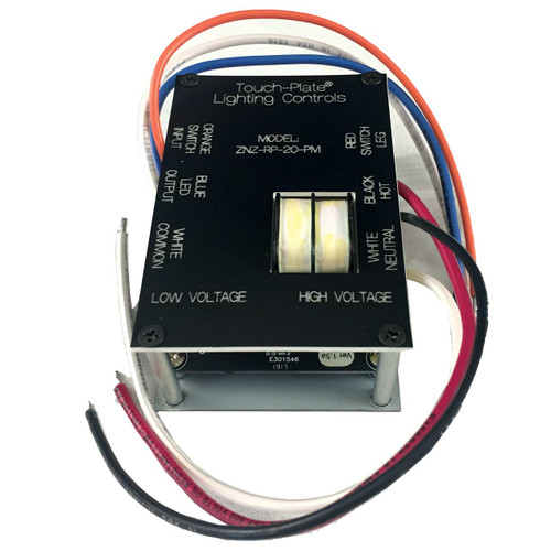 Touch Plate Low Voltage Powered Relay Pack - Panel Mount