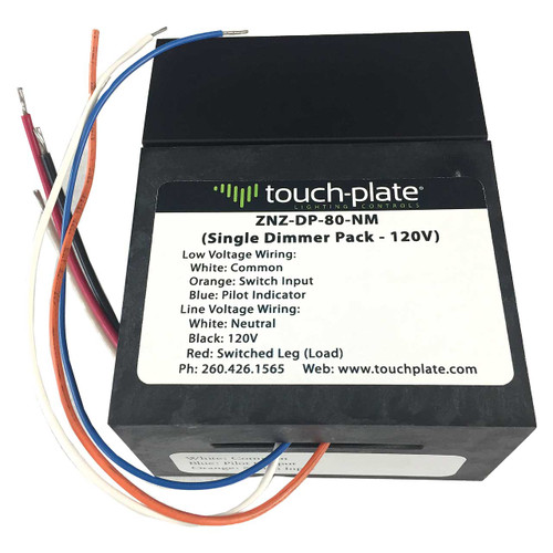 Touch-Plate Low Voltage Light Dimmer Pack - Nipple Mount