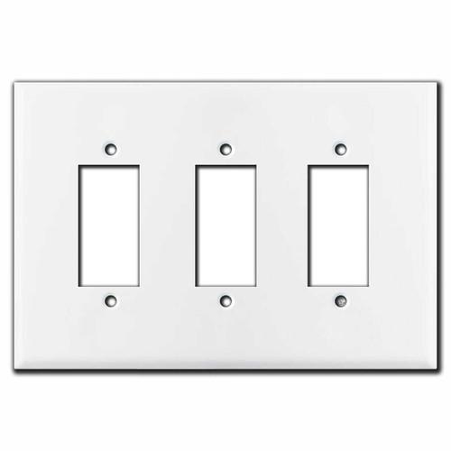 Leviton Centura 3-Gang Square Push Button Switch Plates