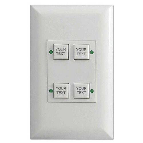 Engraved Touch Plate Low Voltage Classic 4 LED Light Switches