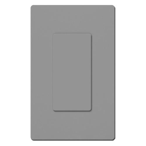 Single Blank Screwless Wall Plate Lutron - Gray Plastic