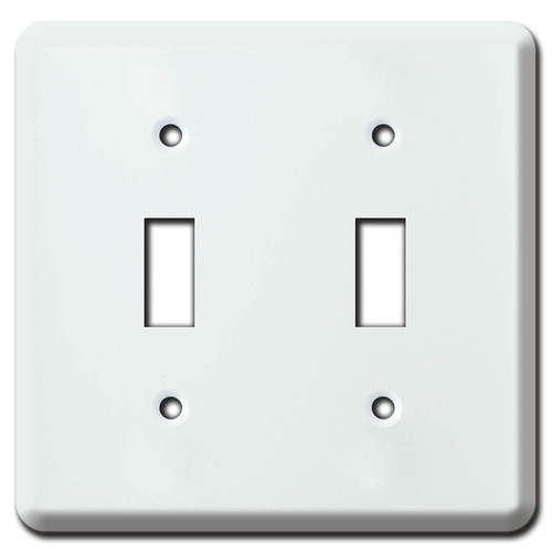 2-Toggle FS Box Cover for Surface Box - White
