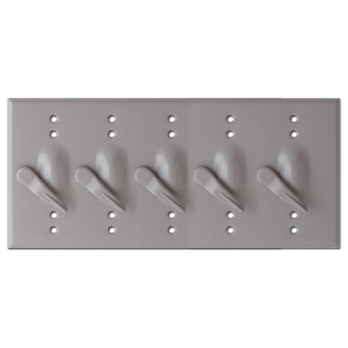 Weather-safe 5 Toggle Outdoor Electrical Switch Plates