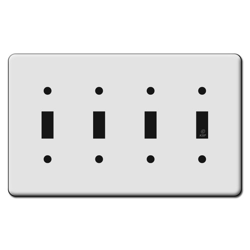 Tall 4 Toggle Switch Plate Covers