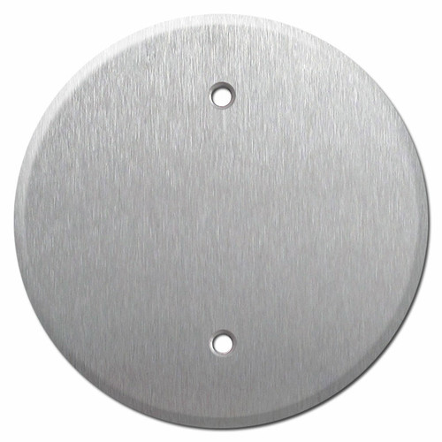 Round Blank Cover - 3.28'' Gang Box Screw Spacing - Stainless Steel